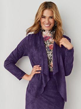 Koret® Sueded Knit Jacket