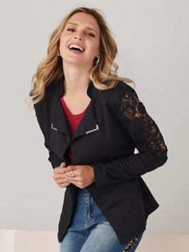 Lace Inset Jacket