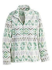 Alfred Dunner® Lake Geneva Aztec Zip Up