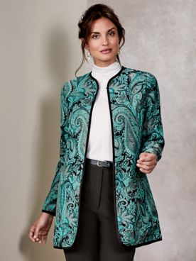 Koret® Long Paisley Tapestry Jacket