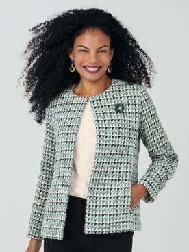 Koret® Textured Tweed Jacket