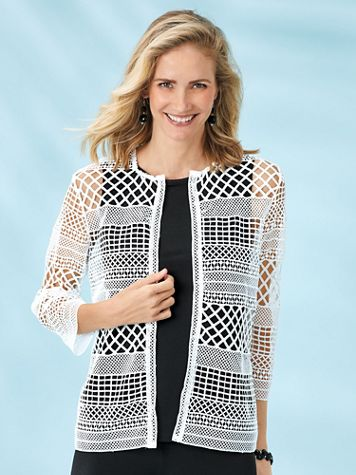 Koret® Crochet Jacket