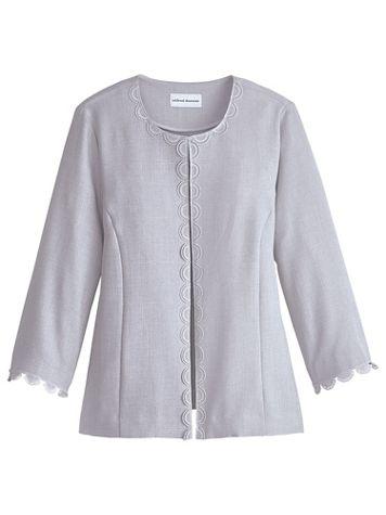 Alfred Dunner® Primrose Garden Lace Trim Jacket - Image 0 of 3
