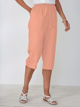 Stretch-Twill Capris by Alfred Dunner®