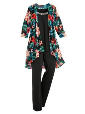 Koret® 3-Pc. Print Georgette Pants Set