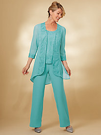 3-Pc. Embellished Pants Set