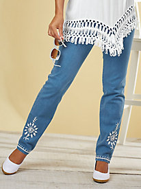 Bend Over® Embroidered Jeans