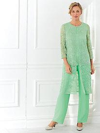3-Pc. Lace Pants Set