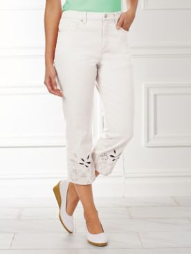 Capris With Cut-Out Lace By Gloria Vanderbilt®