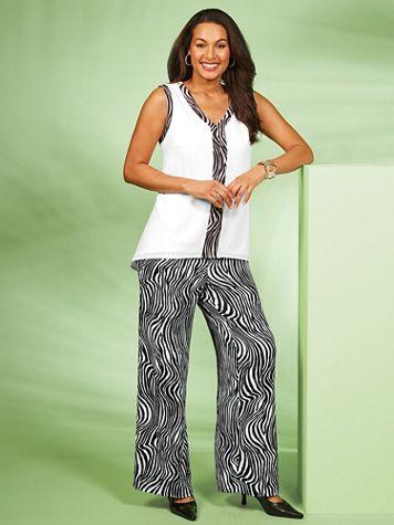 Zebra Print Pants Set by Regalia® - Image 2 of 2