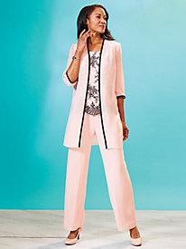 Embellished Duster Pants Set