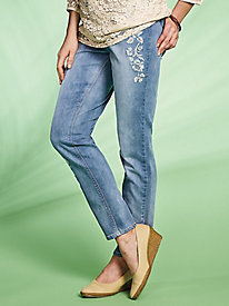 Embroidered Jeans by Regalia®