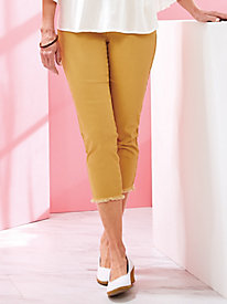 Madrid Slimming Twill Capris by Skye's the Limit