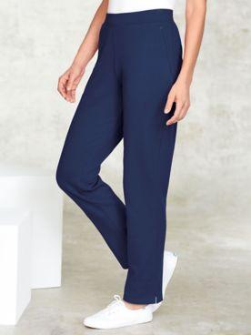 Zip-Pocket Fleece Pants
