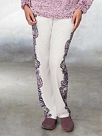 Cozy Knit Print Pants