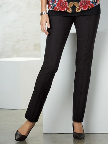 Velvet Crush Silky Stretch Pants by Ruby Rd. - Image 1 of 6