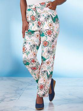 Koret® Five-Pocket Print Jeans