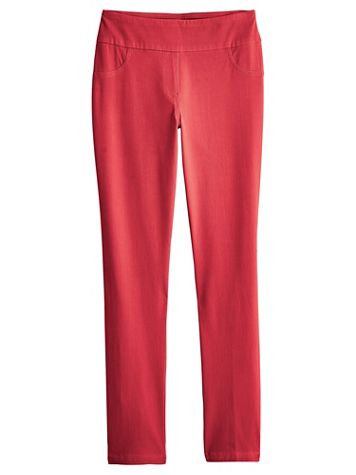 Ruby Rd. Knitted Twill Pants - Image 1 of 6