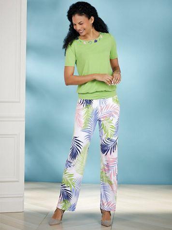 Tropical Print Pants Set by Regalia® - Image 2 of 2