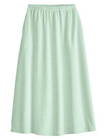 Stretch Knit Corduroy Skirt