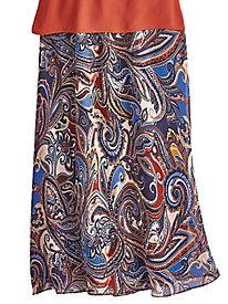 Woven Print Skirt