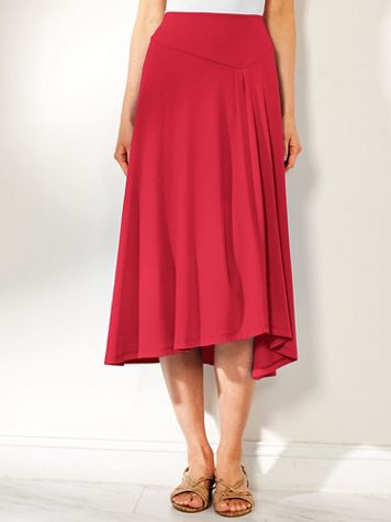 Asymmetrical Knit Skirt