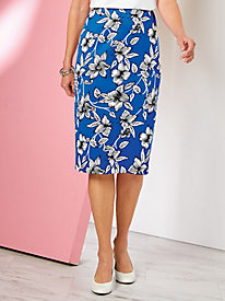 Floral Print Skirt By Koret®