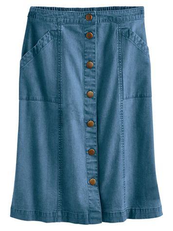 Koret® Button Front Jean Skirt