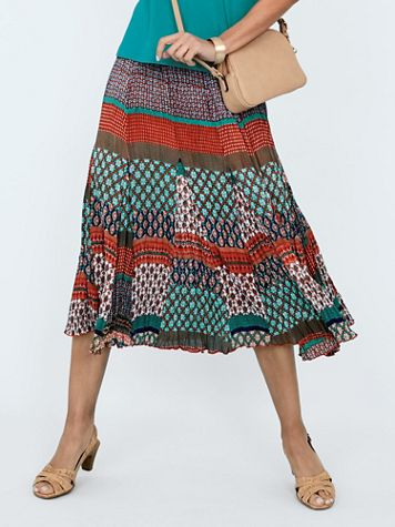 Desert Sunrise Pleated Skirt