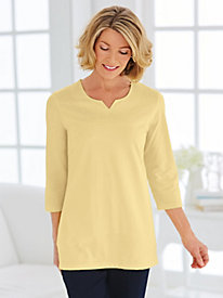 Essential Knit Notch Neck Tee by Old Pueblo Traders