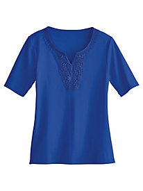 Notched Medallion Tee By Koret® by Old Pueblo Traders