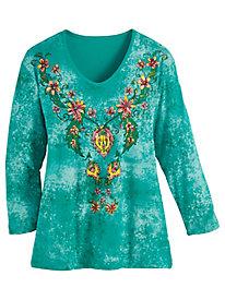 Summer Print Jersey Knit Tee
