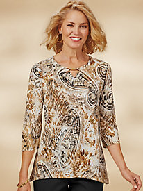 Deck The Halls Paisley Top By Alfred Dunner®