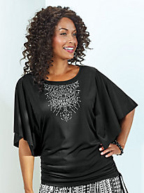 Embellished Butterfly Blouse By Koret®