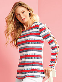 Nautical Stripe Knit Top By Koret®