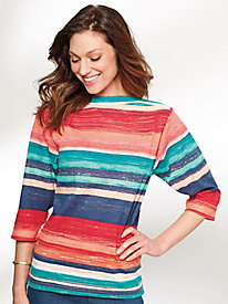 Summer Stripe Knit Top By Bend Over®