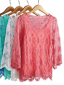 Je T'aime Medallion Lace Top by Ruby Road®