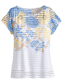 Hearts Of Palm Sand Tropez Print Top