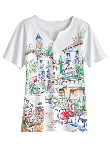 Classic Print Tee By Alfred Dunner® - Image 2 of 2
