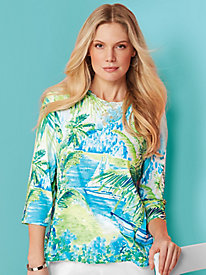 Turks & Caicos Scenic Top By Alfred Dunner®