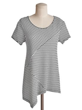 Spliced Stripe Tunic by Emaline