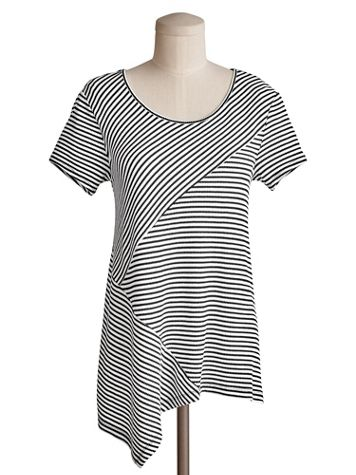 Spliced Stripe Tunic by Emaline - Image 2 of 2