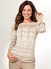 Ruby Rd. Natural Wonders Print Knit Top