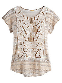 Ruby Rd. Natural Wonders Embellished Top