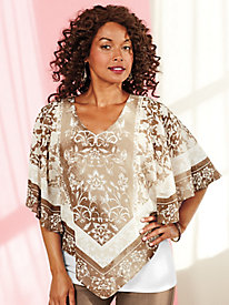 Ruby Rd. Natural Wonders Scarf Print Top