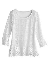 Barcelona Crochet Tunic by Alfred Dunner®