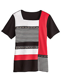 Barcelona Colorblock Top By Alfred Dunner®