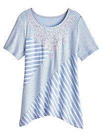 Daydreamer Spliced Stripe Top By Alfred Dunner®