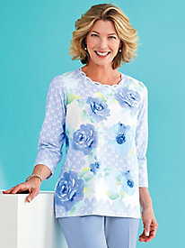 Daydreamer Floral Print Top By Alfred Dunner®