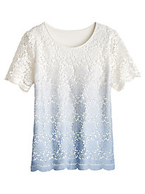 Daydreamer Lace Top By Alfred Dunner®